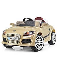 Детский электромобиль Audi с кожаным сиденьем, M 3891 EBLRS-13 золотой