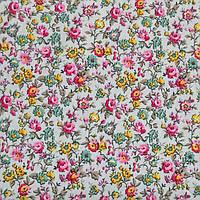 Ткань вискоза принт стрейчевая с цветочным рисунком, фото 1
