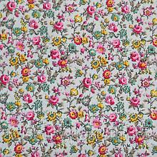 Ткань вискоза принт стрейчевая с цветочным рисунком