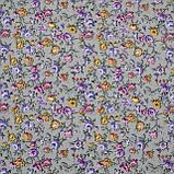Тканина віскоза принт стрейчева з квітковим малюнком, фото 3