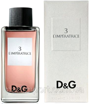 Dolce & Gabbana L`imperatrice №3 EDT 100 ml  туалетная вода женская (оригинал подлинник  Великобритания)