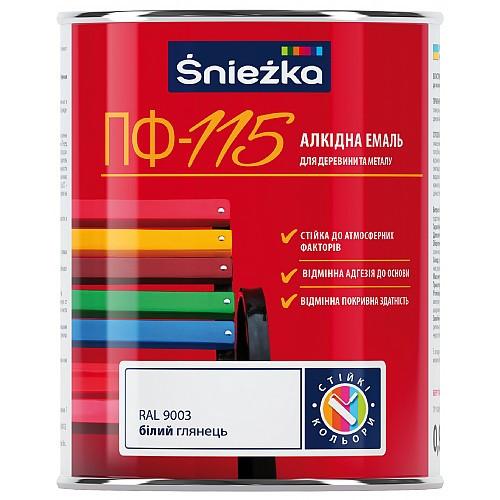 Фарба для дерева та металу  Емаль ПФ-115 (RAL 7012) СІРИЙ, 2,8 кг ГЛЯНЕЦЬ