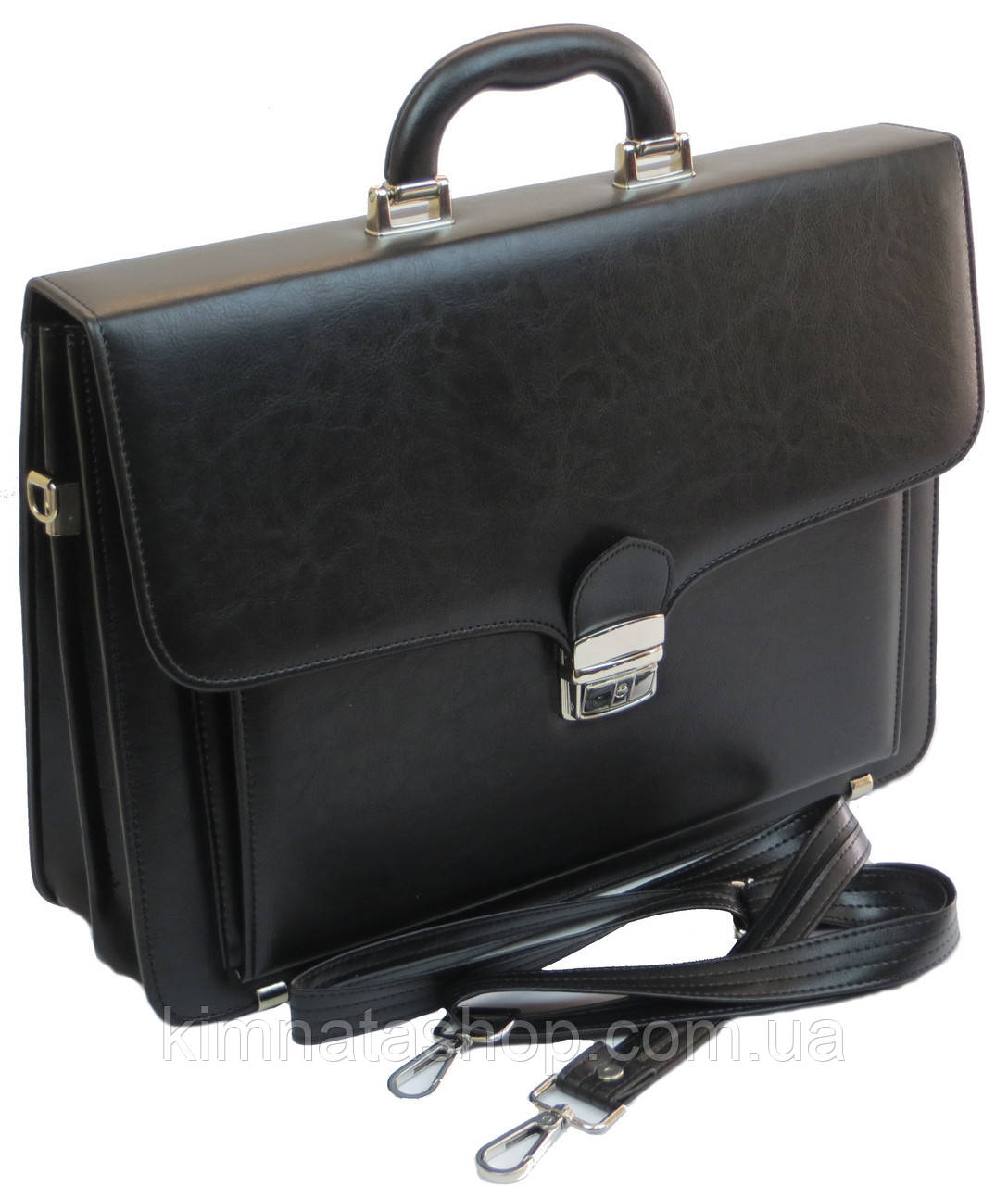 Портфель зі штучної шкіри AMO Польща SST07 black