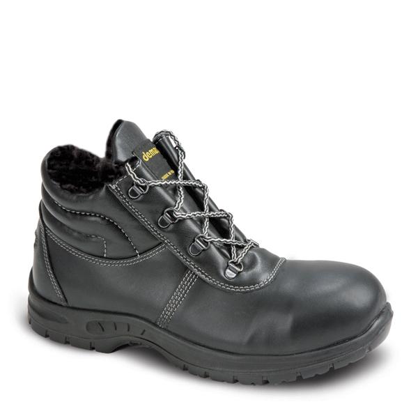Зимние рабочие ботинки WINTER GLOSS UP S3 CI SRC черного цвета. DEMAR (ПОЛЬША)