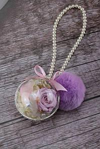 Шар- подвеска со стабилизированной розой