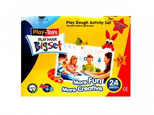 Масса для лепки Play-Toys Funset 6 цветовх80г.+инcтрументы, фото 2