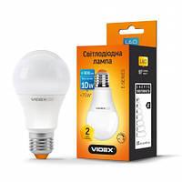 LED лампа VIDEX  A60eD 10W E27 4100K 220V диммерная