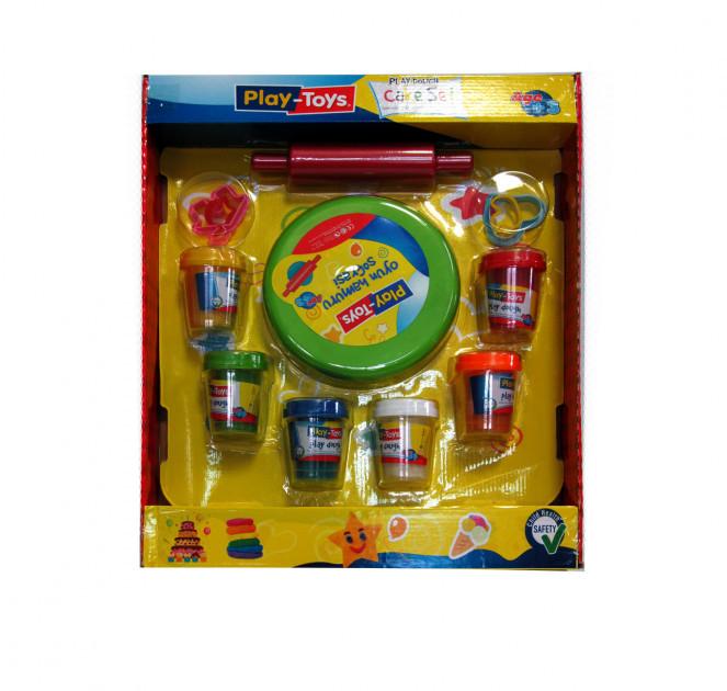 Масса для лепки Play-Toys Набор Cake set 6 х50г.+инcтрументы