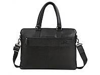 Мужская кожаная сумка-портфель, черного цвета. ТОП КАЧЕСТВО!!!, фото 1
