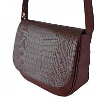 Бордовая женская сумка кросс-боди с искусственной кожи, фото 1