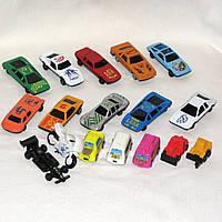 Комплект игрушечного транспорта - пластиковые машинки 15 шт., мотоцикл и гонка-болид в подарок