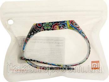 Ремешок UWatch TPU Replacement Print Design #1 Wrist Strap  for Mi Band 2 Flowers, фото 2
