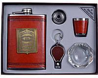 Подарочный набор с флягой для мужчин 5 в 1 Jack Daniels
