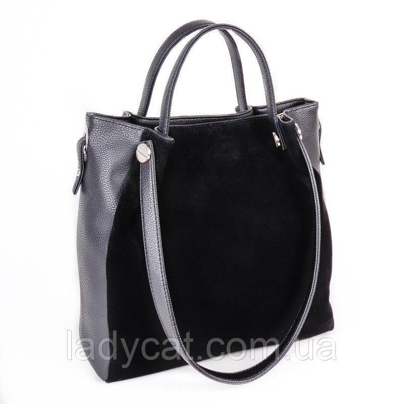f37506906f86 Женская сумка из кожзама М130-47/замш, цена 525 грн., купить в ...
