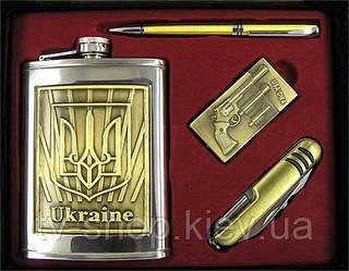 Набір подарунковий з флягою Україна (метал)