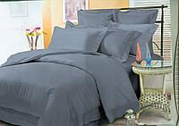 Высококлассный семейный комплект постельного белья из страйп-сатина.