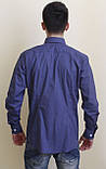 Мужская рубашка синяя в горошек, фото 2