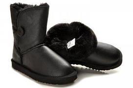 Детские сапоги Baby Bailey Button Leather размер 24 Черные, КОД: 231601