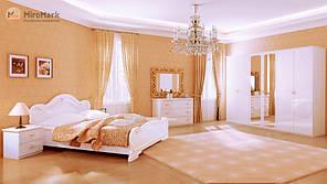 """Спальня """"Футура"""" від Миро-Марк (глянець білий)."""