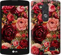 "Чехол на LG L Fino D295 Цветущие розы ""2701u-240-387"""
