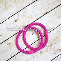 Резинки для волос с пластиковым зажимом, 6 х 0,5 см, цвет малиновый, 2 шт.