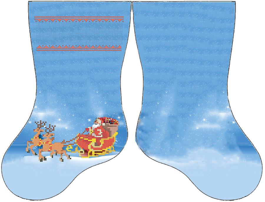 СКВ-192. Схема для вишивки бісером Новорічний чобіток.