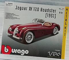 Авто-конструктор 1:24 JAGUAR XK 120 ROADSTER (1948) (Вишневый) 18-25061 BBURAGO