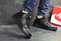 Мужские Зимние кроссовки  с мехом Nike air Jordan Black