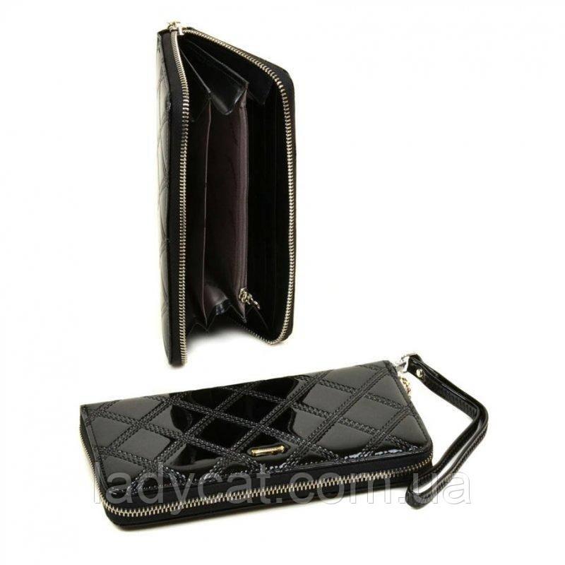 Женский кошелек на молнии Rose-2 WD-8 black