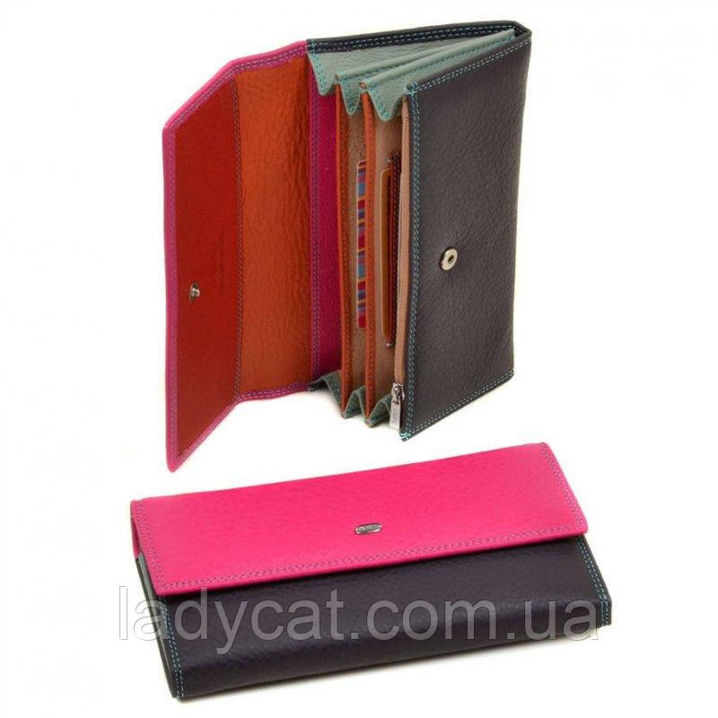 Женский кошелек из натур. кожи Rainbow WRS-1 plum-red