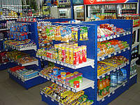 Стеллажи торговые для АЗС. Стеллажи в магазин WIKO (ВИКО). Торговое оборудование
