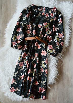 Цветочное платье с поясом New Look, фото 2