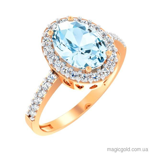 Золотое кольцо с топазом Изысканность