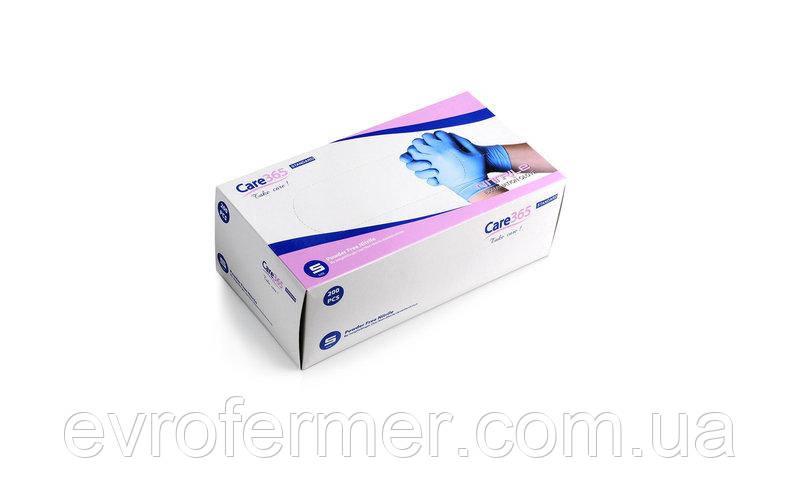 Одноразовые нитриловые перчатки без пудры 200 шт Care 365
