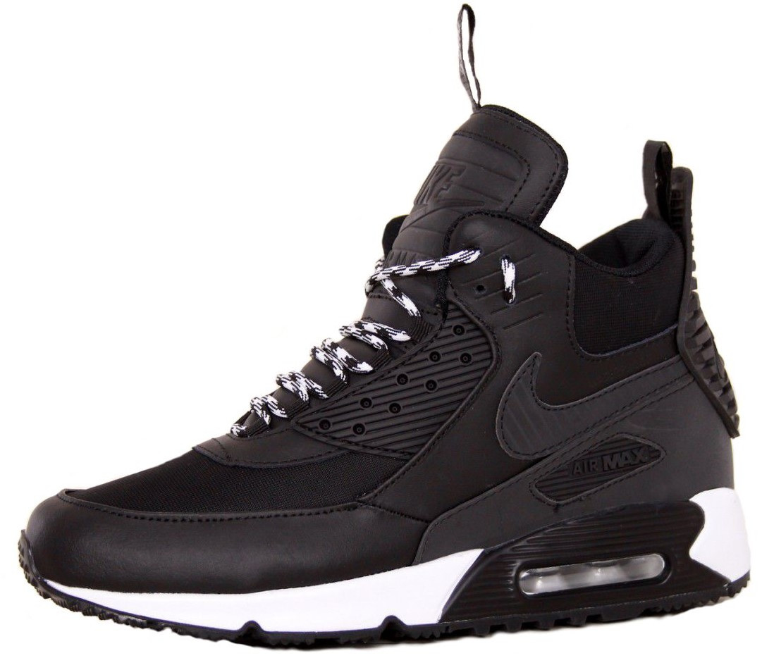 Мужские зимние кроссовки Nike Air Max 90 Sneakerboot Winter (Найк) черные