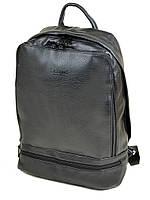 Черный мужской рюкзак изискусственной кожи, фото 1