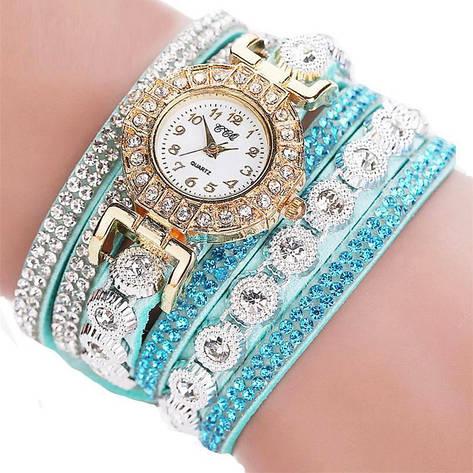"""Женские наручные часы """"CCQ"""" (бирюзовый ремешок), фото 2"""