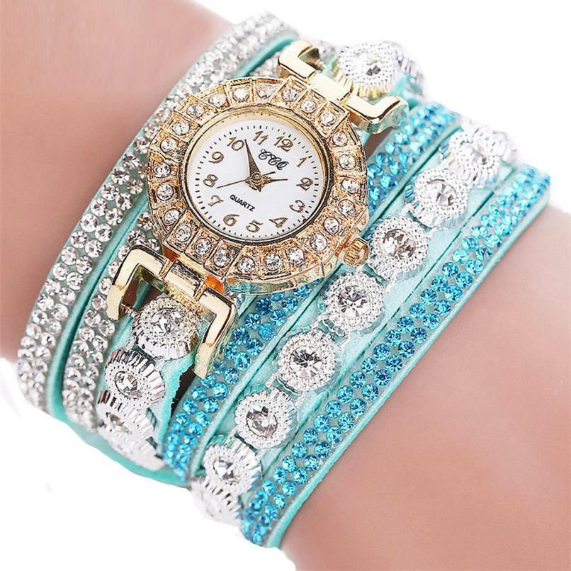 """Женские наручные часы """"CCQ"""" (бирюзовый ремешок)"""