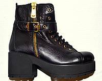 c4d067a42 Модные ботинки женские зимние черные Турция кожаные Ripka со скидкой