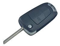 Заготовка OPEL Astra, Omega, Vectra выкидной ключ 2 кнопки (корпус)