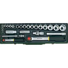 """Автомобільний набір торцових головок з тріскачками Proxxon 1/4"""" і 1/2"""", 6-32 мм, 27 позицій"""