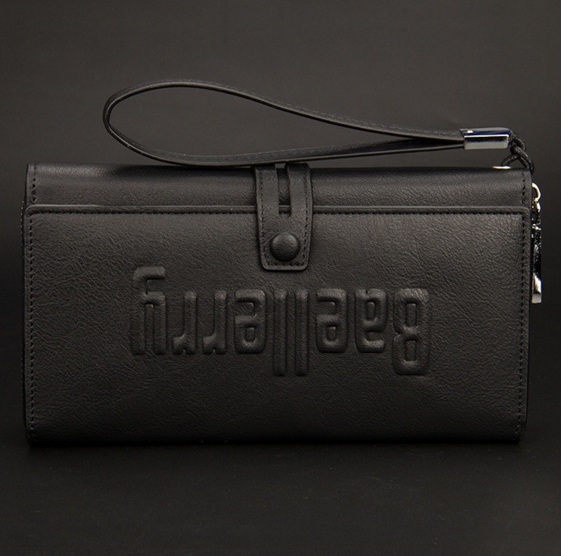 474093180a9a мужской клатч кошелек Baellery черный продажа цена в киеве
