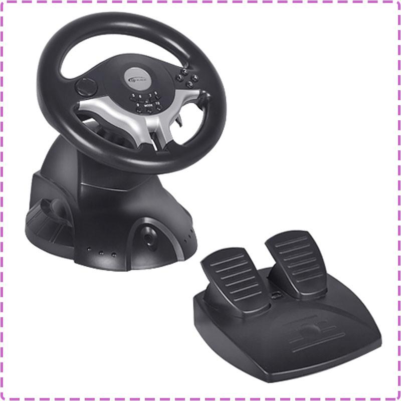 Игровой руль для ПК Gemix WFR-1, руль с педалями для компьютера