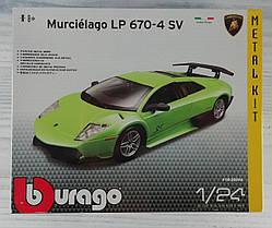 Авто-конструктор 1:24 Lamborghini murcielago LP670-4 SV (Зеленый) 18-25096 BBURAGO