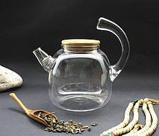 Чайник стекло + сито пружина 1300мл.