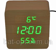 Электронные часы VST-872S-4 (ярко.зел.подсвет./датчик.темп.и влажности/дата)