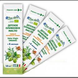 Fleur Alpine Organic масло детское оливковое порционное, с 6 месяцев, 10 мл