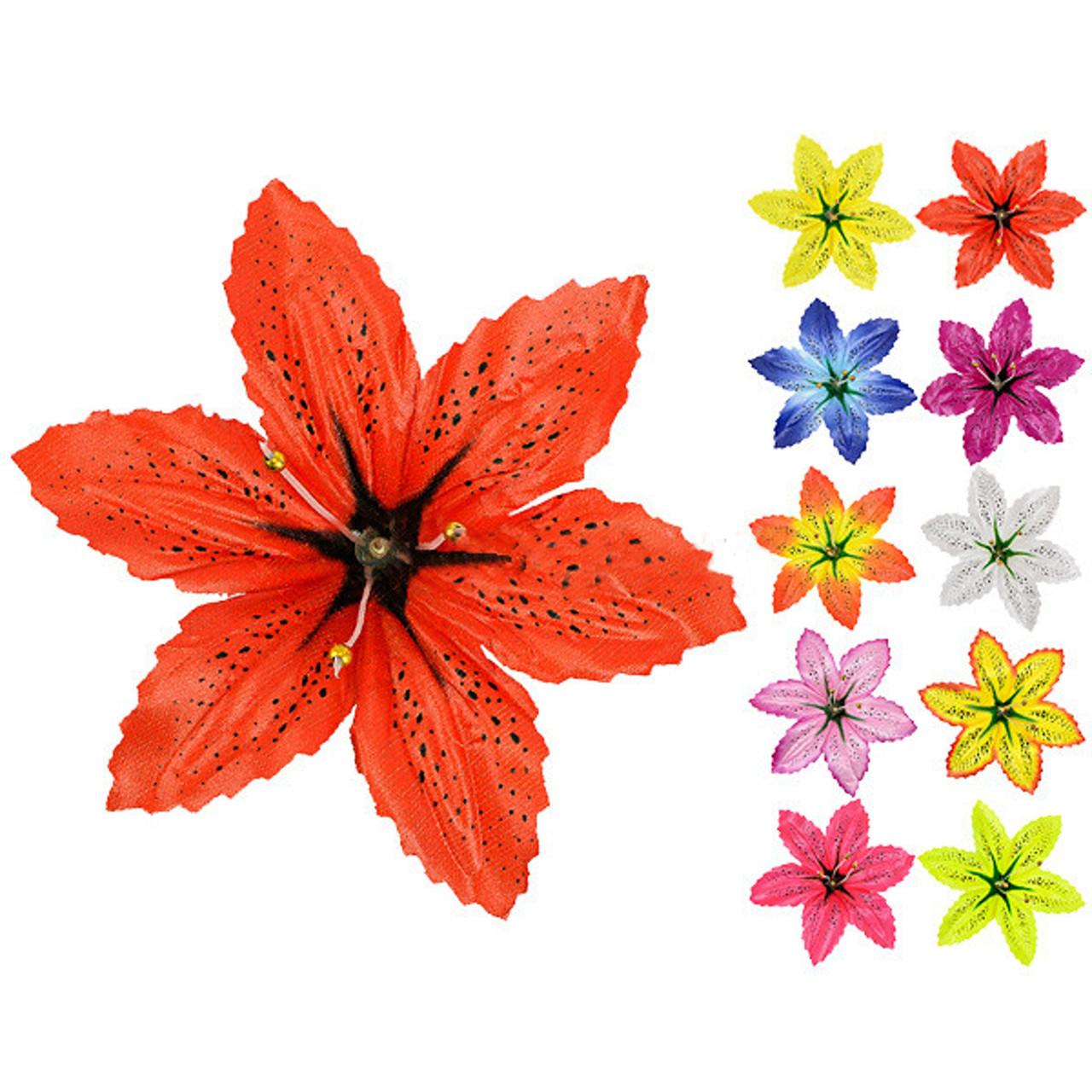 Прес-квітка Лілія атлас плямиста, 14см