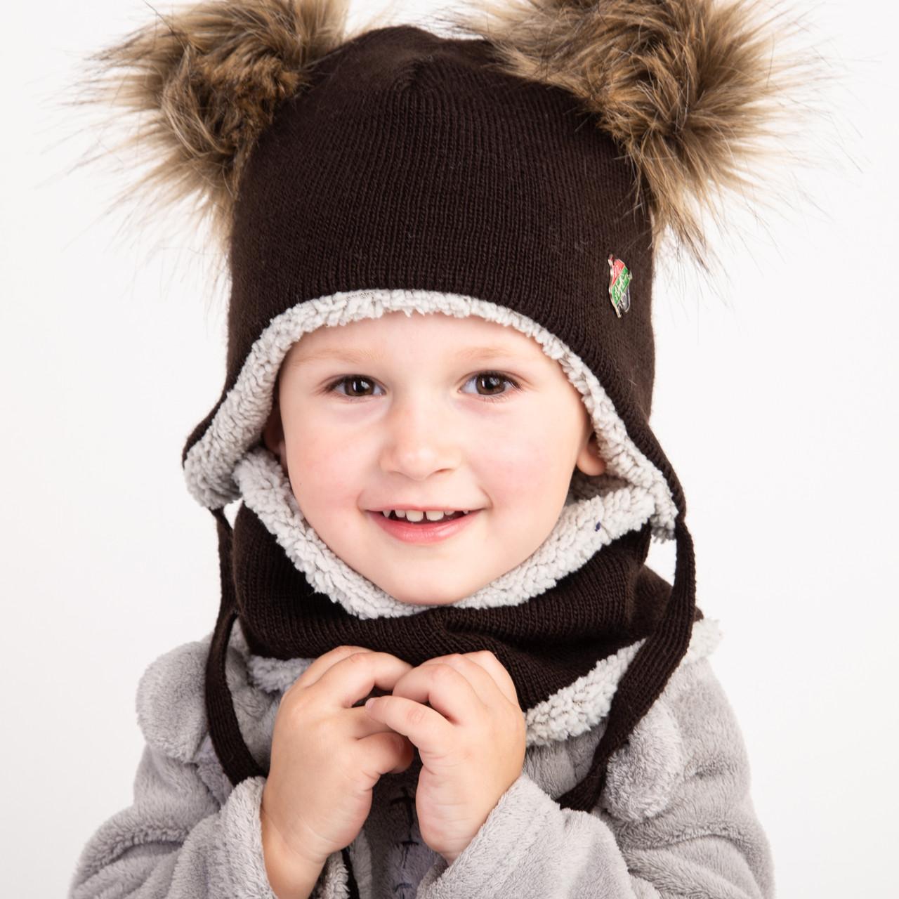 Зимний комплект с помпонами для мальчика - Артикул 2378