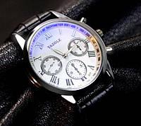 Модные мужские часы Yazole Белый